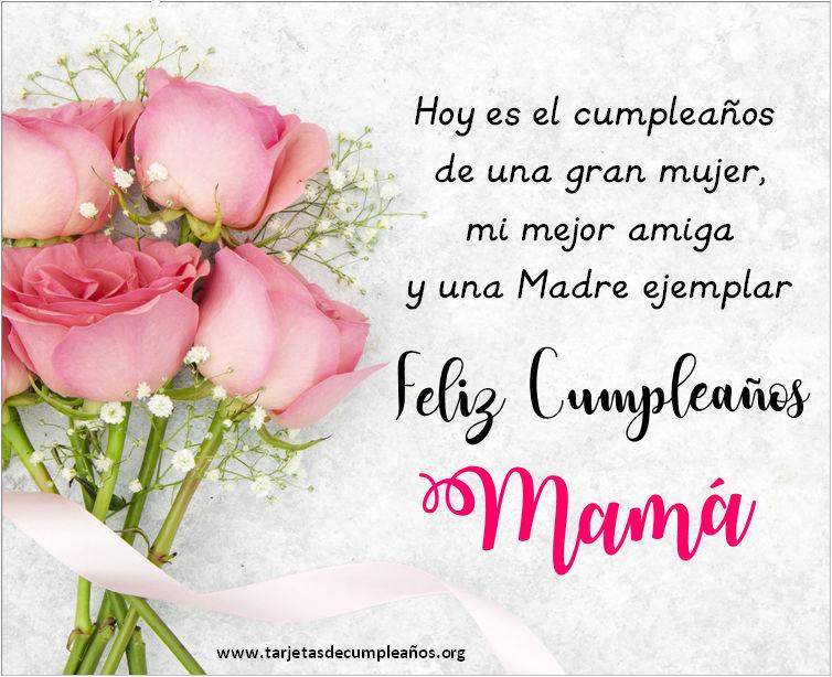Postales cariñosas para el cumpleaños de mama