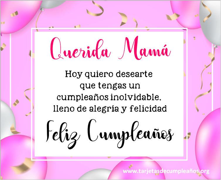 frases con imágenes para desear feliz cumpleaños mama