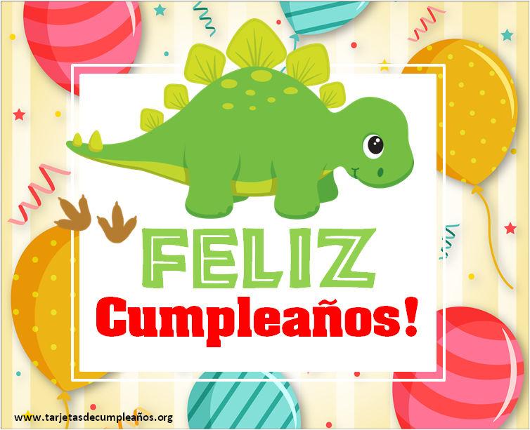 Imágenes de feliz Cumpleaños de dinosaurios infantiles