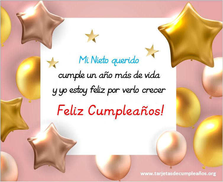 Mensajes de Feliz Cumpleaños Querido Nieto