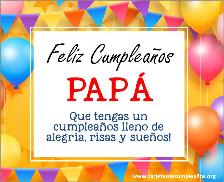 tarjetas de cumpleaños para papa